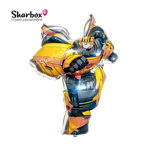 Шар фигура Бамблби Трансформеры с гелием