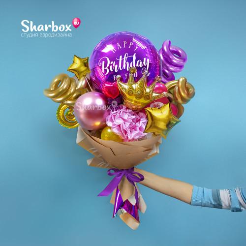 Крафтовый букет Happy Birthday