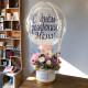 Цветы в коробке с Шаром Баблс №4