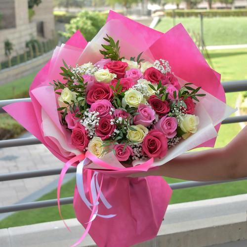 Букет Розовый Микс №1