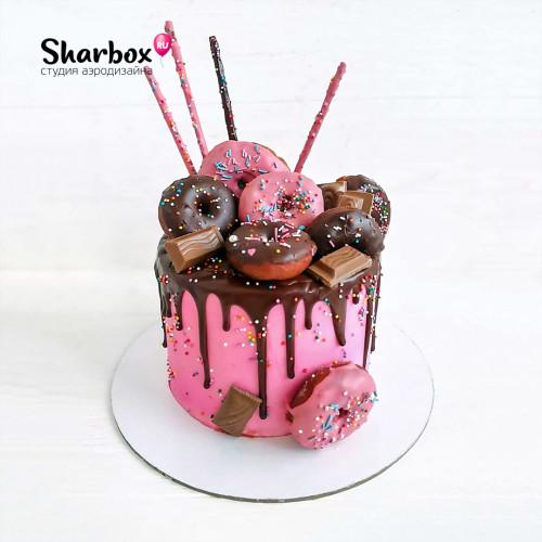 Тортик с пончиками