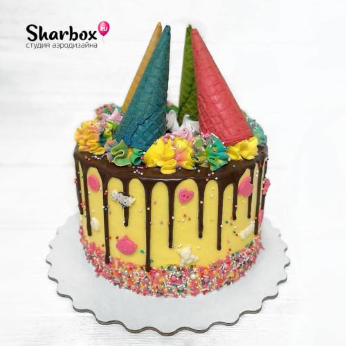 Торт на рождение малышки