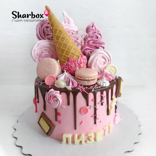 Кенди тортик для девочки
