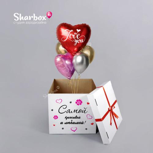 Коробка с шарами Сердца