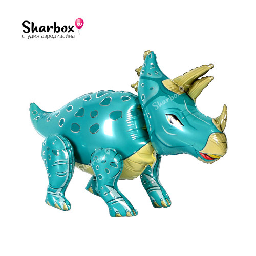Ходячая фигура Динозавр Трицератопс синий