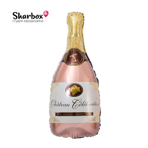 210-047 Шар фигура Бутылка шампанского Розовое золото