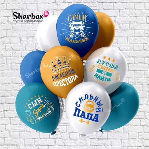 100-141 Воздушные шары Любимый сынок