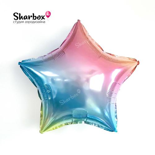 209-094 Шар Звезда Радужный градиент 32in